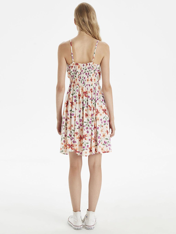 Kadın Çiçek Desenli Askılı Elbise