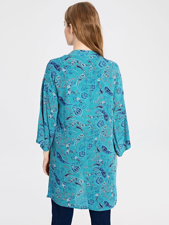 Kadın Desenli Viskon Kimono