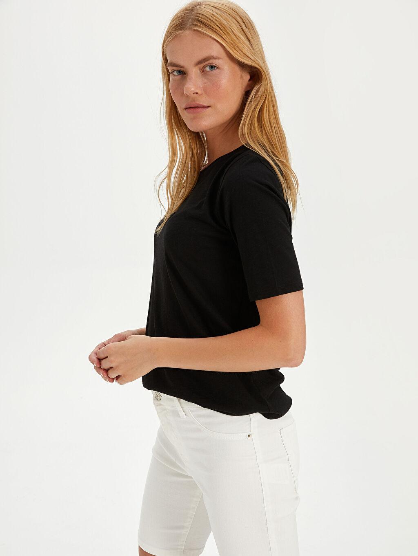 Kadın Yüksek Bel Skinny Jean Şort