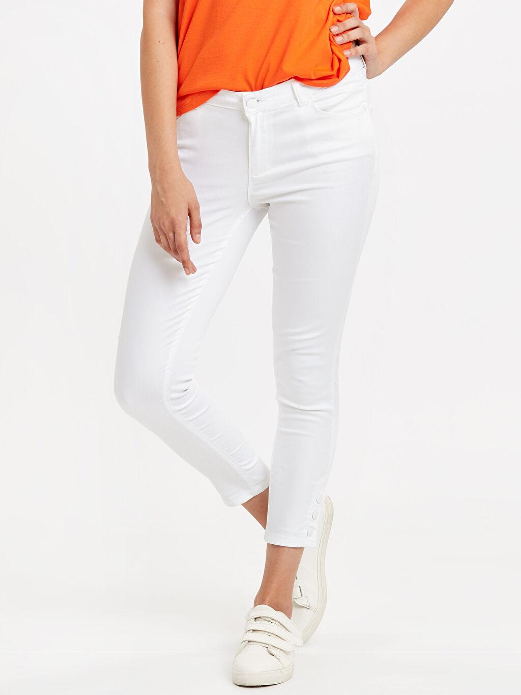 %67 Pamuk %29 Polyester %4 Elastan Normal Bel Skinny Skinny Pantolon