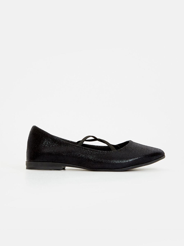 Siyah Kız Çocuk Babet Ayakkabı 9S0278Z4 LC Waikiki