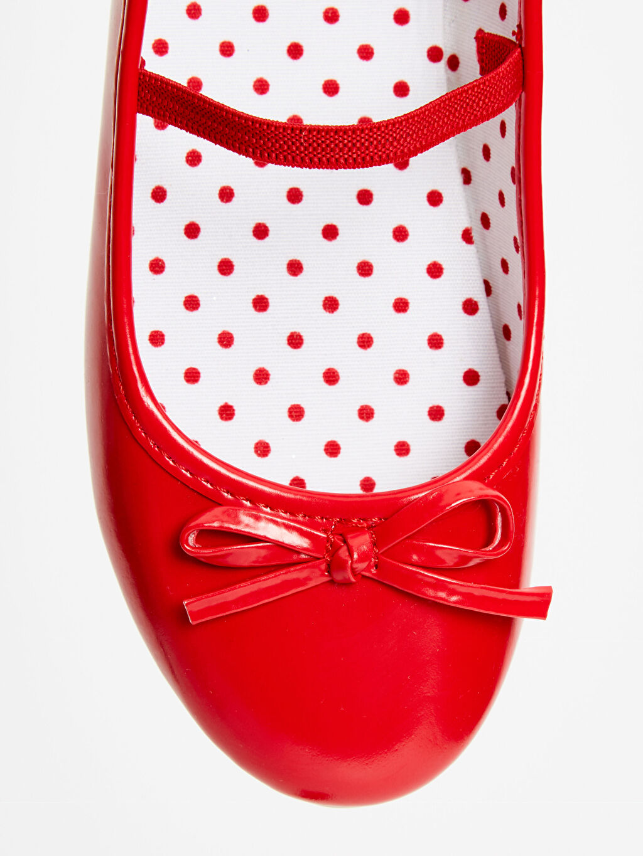 LC Waikiki Kırmızı Kız Çocuk Babet Ayakkabı
