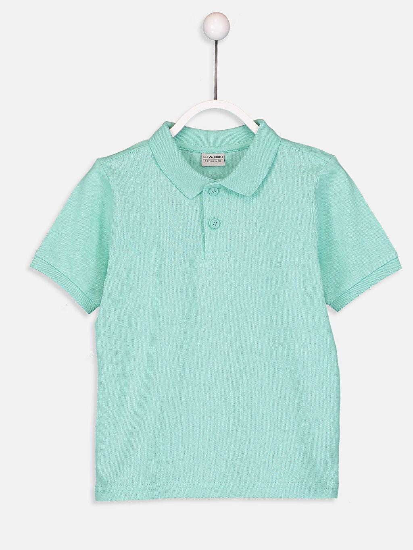 Yeşil Erkek Çocuk Polo Yaka Pamuklu Basic Tişört 9S0298Z4 LC Waikiki