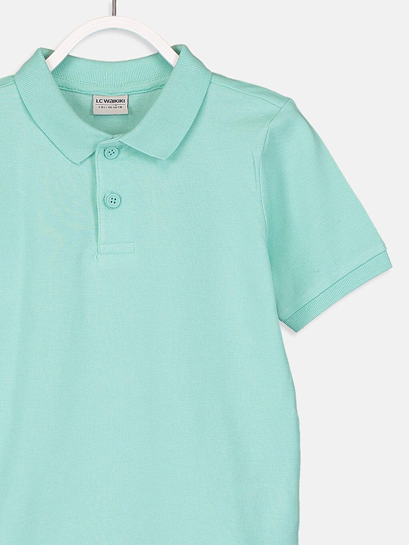 Erkek Çocuk Erkek Çocuk Polo Yaka Pamuklu Basic Tişört