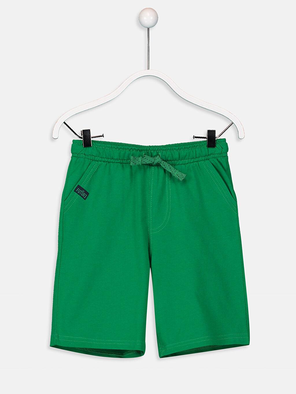 Yeşil Erkek Çocuk Beli Lastikli Şort 9S0409Z4 LC Waikiki
