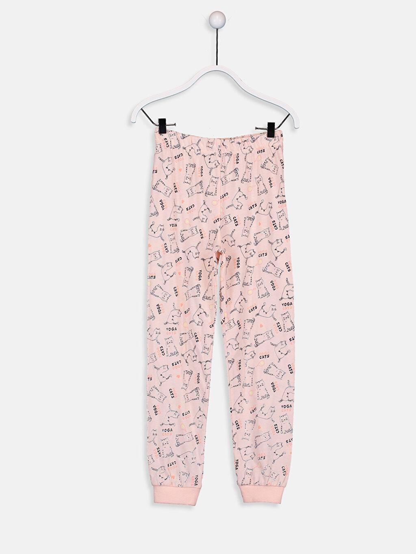 %49 Pamuk %51 Polyester Kız Çocuk Pamuklu Pijama Takımı