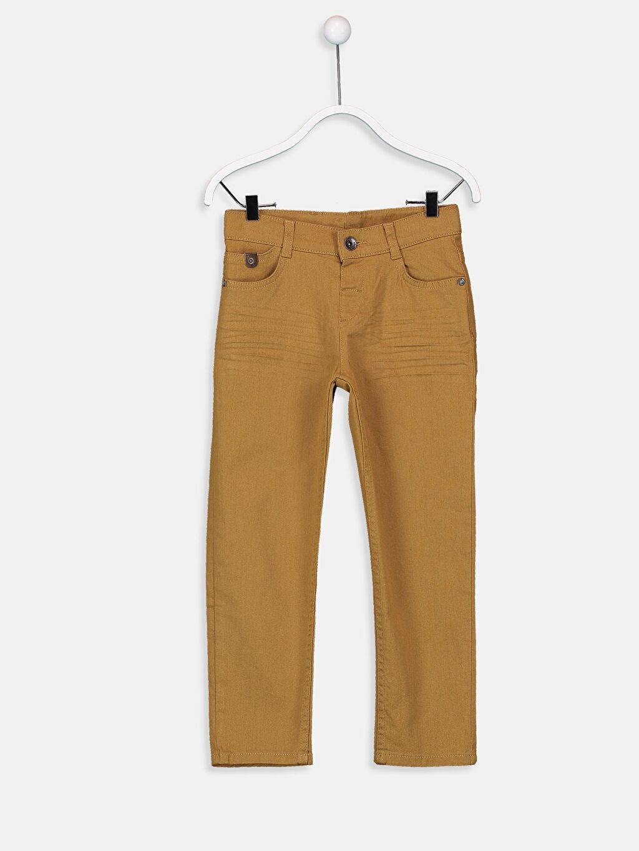 Sarı Erkek Çocuk Super Slim Gabardin Pantolon 9S2287Z4 LC Waikiki
