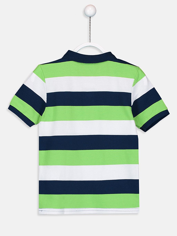 %100 Pamuk Çizgili Normal Tişört Polo Erkek Çocuk Çizgili Pamuklu Tişört