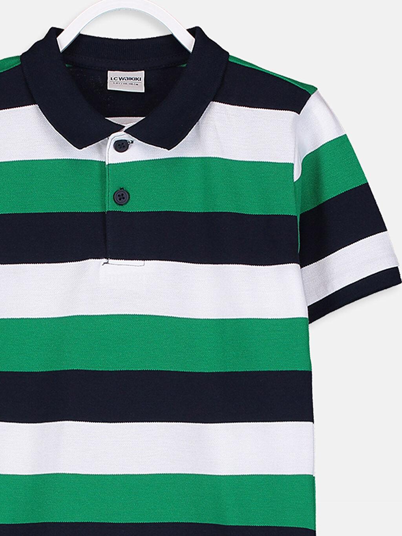 Erkek Çocuk Erkek Çocuk Çizgili Pamuklu Tişört