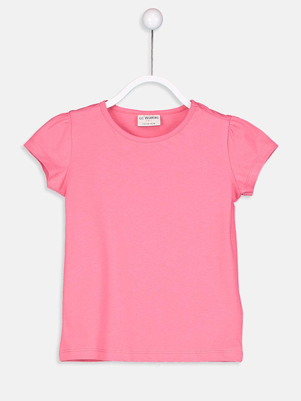 Pembe Kız Çocuk Pamuklu Basic Tişört 9S2892Z4 LC Waikiki