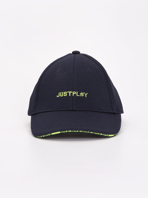 %98 Polyester %2 Elastan Şapka Erkek Çocuk Yazı Baskılı Şapka