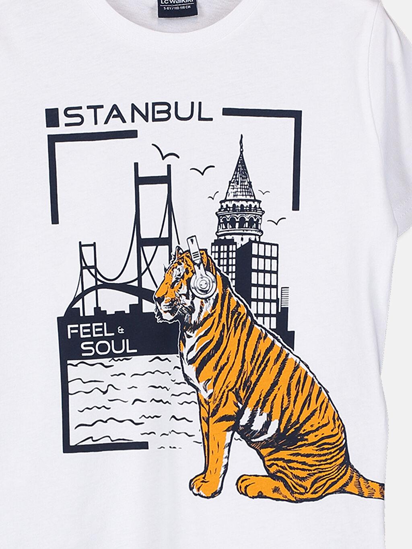 %100 Pamuk Erkek Çocuk Güneşte Renk Değiştiren Pamuklu Tişört