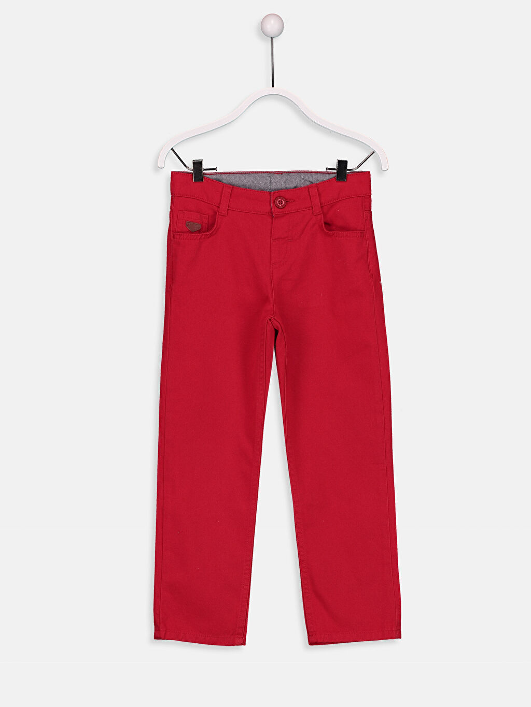 Kırmızı 23 Nisan Erkek Çocuk Standart Kalıp Pantolon 9S3888Z4 LC Waikiki