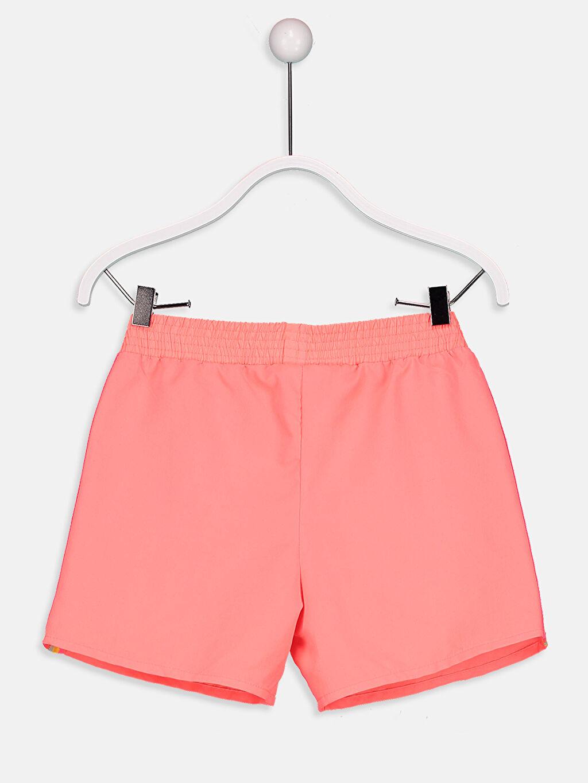 %100 Polyester Şort Kız Çocuk Deniz Şortu