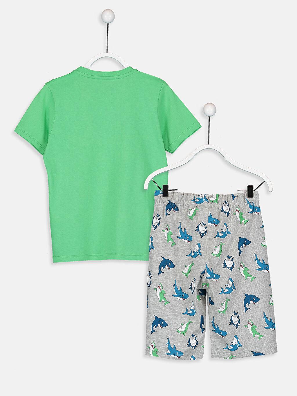 %66 Pamuk %34 Polyester Standart Erkek Çocuk Baskılı Pijama Takımı