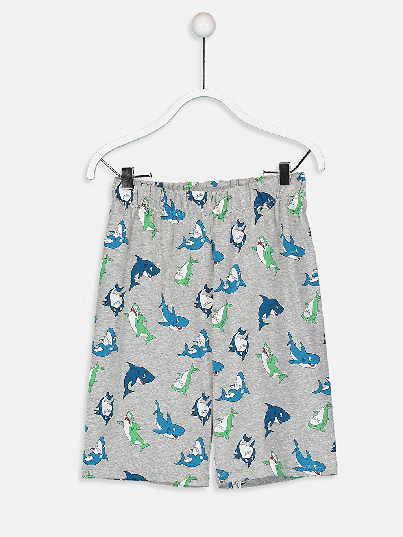 %66 Pamuk %34 Polyester Erkek Çocuk Baskılı Pijama Takımı