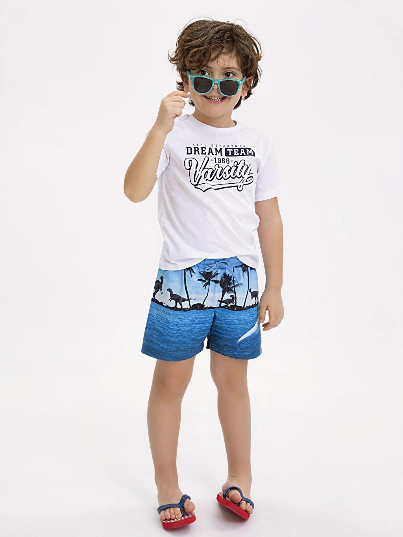 Erkek Çocuk Erkek Çocuk Baskılı Deniz Şortu