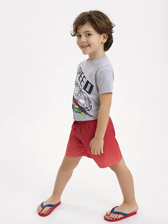 Kırmızı Erkek Çocuk Deniz Şortu 9S5062Z4 LC Waikiki