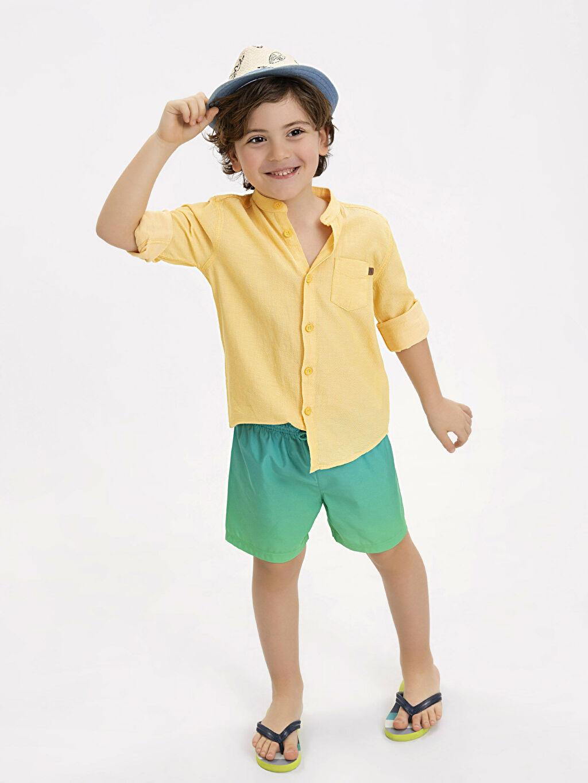 Turkuaz Erkek Çocuk Deniz Şortu 9S5062Z4 LC Waikiki