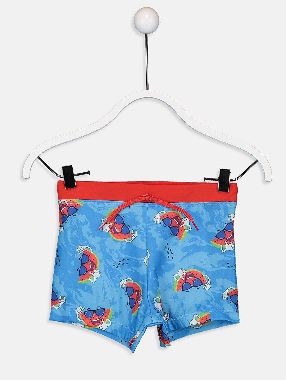 Mavi Erkek Çocuk Baskılı Boxer Mayo 9S5479Z4 LC Waikiki