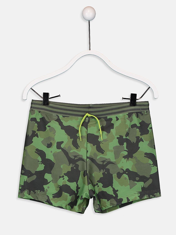 Yeşil Erkek Çocuk Kamuflaj Desenli Boxer Mayo 9S5486Z4 LC Waikiki