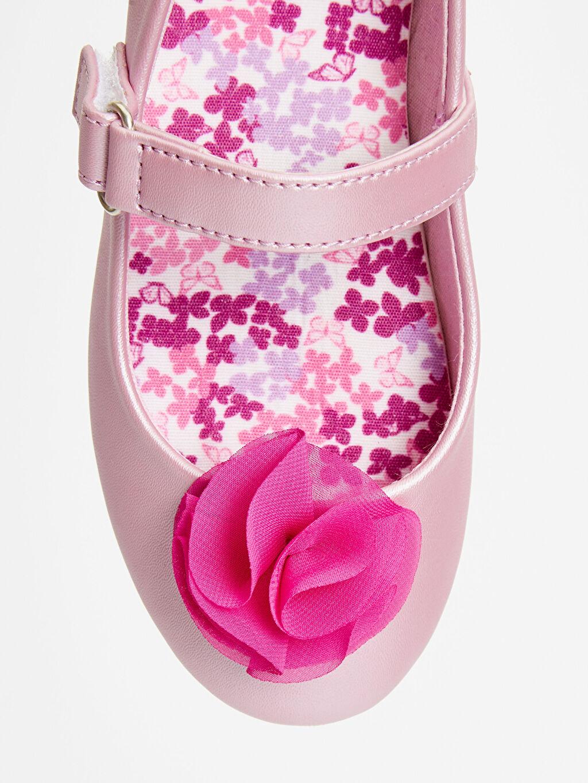 LC Waikiki Pembe 23 Nisan Kız Çocuk Babet Ayakkabı