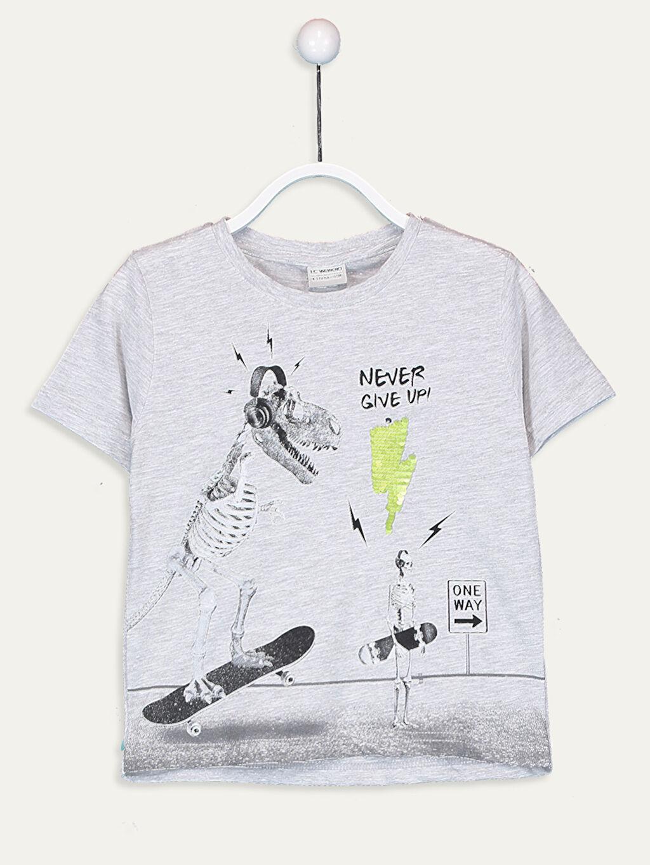 Gri Erkek Çocuk Baskılı Tişört 9S5567Z4 LC Waikiki
