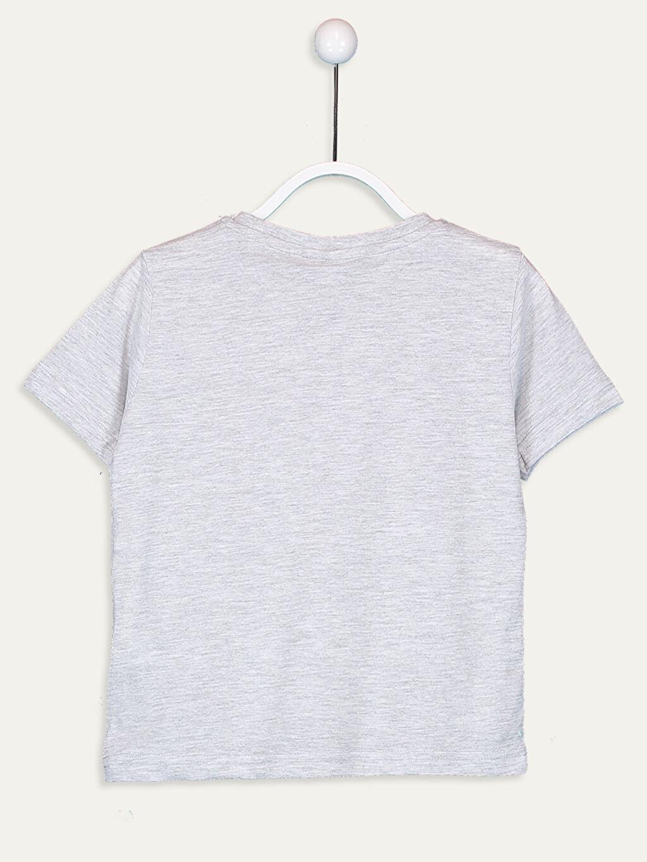 %66 Pamuk %34 Polyester Tişört Kısa Kol Baskılı Normal Bisiklet Yaka Erkek Çocuk Baskılı Tişört