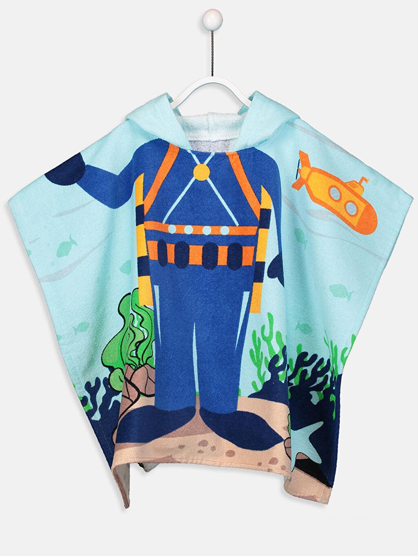 Mavi Erkek Çocuk Pamuklu Panço Havlu 9S5621Z4 LC Waikiki