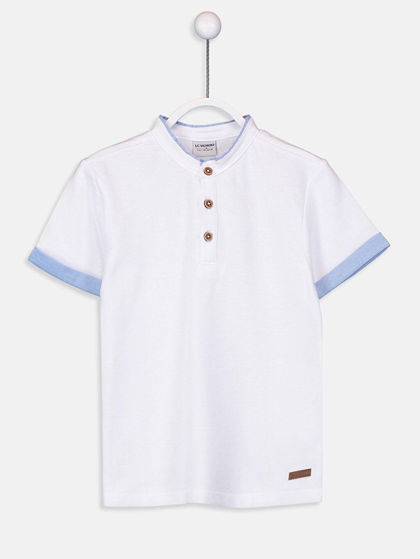Beyaz Erkek Çocuk Kısa Kollu Pamuklu Tişört 9S5638Z4 LC Waikiki
