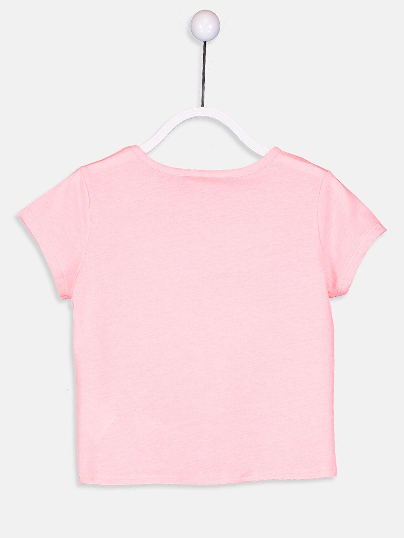 %49 Pamuk %51 Polyester Standart Tişört Baskılı Kısa Kol Bisiklet Yaka Kız Çocuk Kısa Kollu Baskılı Tişört