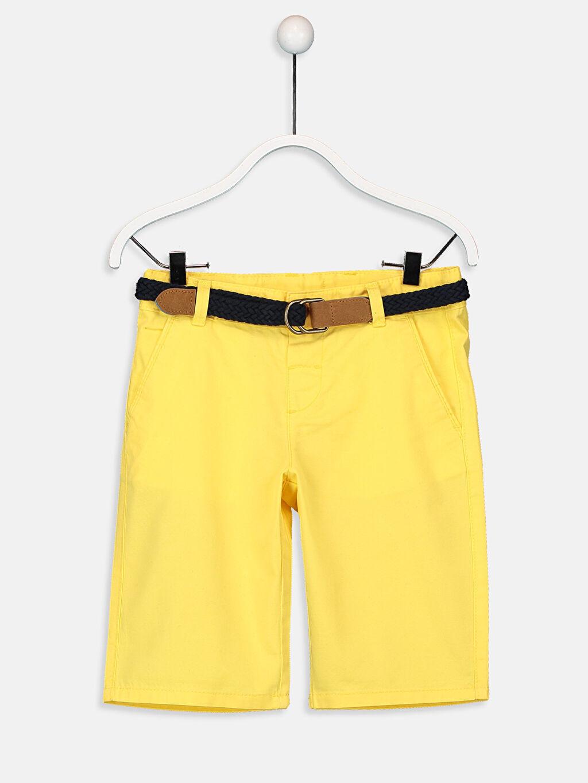 Sarı Erkek Çocuk Chino Roller ve Kemer 9S7700Z4 LC Waikiki