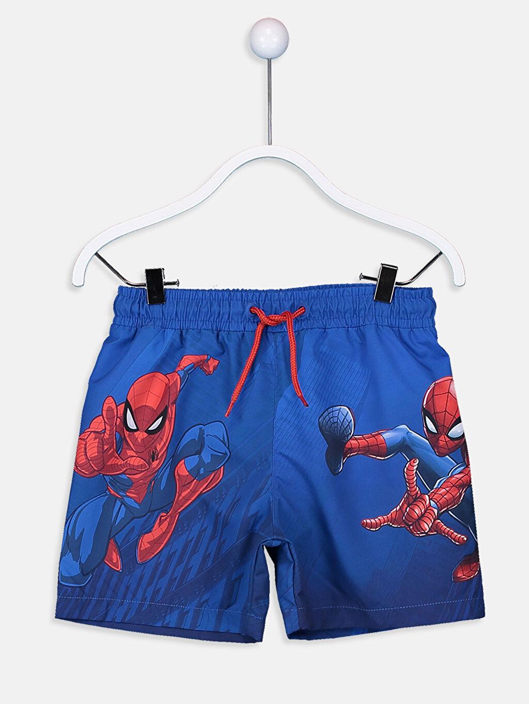 Mavi Erkek Çocuk Spiderman Deniz Şortu 9S7992Z4 LC Waikiki