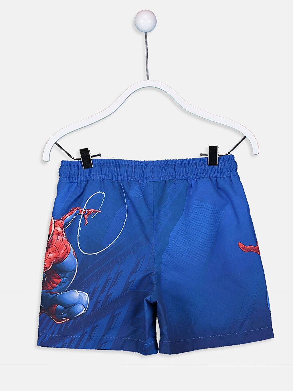 %100 Polyester %100 Polyester Şort Erkek Çocuk Spiderman Deniz Şortu