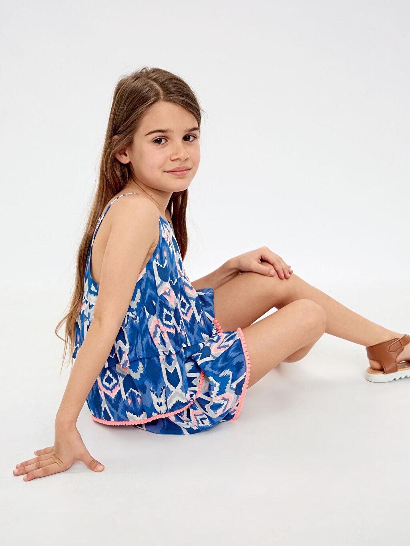 Kız Çocuk Kız Çocuk Volanlı Viskon Bluz