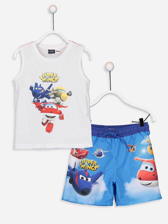 Mavi Erkek Çocuk Harika Kanatlar Yüzme Takım 9S8320Z4 LC Waikiki