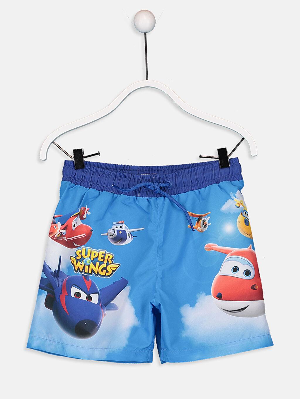 %100 Polyester Erkek Çocuk Harika Kanatlar Yüzme Takım