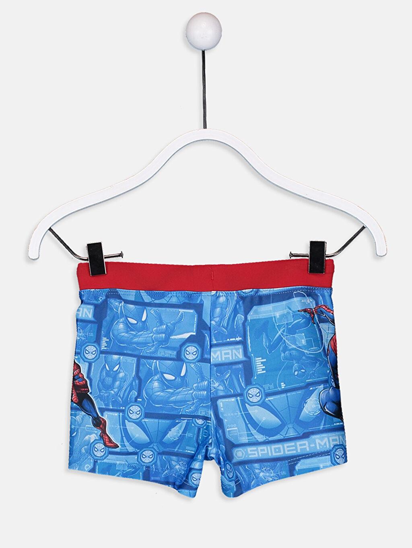 %80 Polyester %20 Elastan %100 Polyester Mayo Erkek Çocuk Spiderman Boxer Mayo
