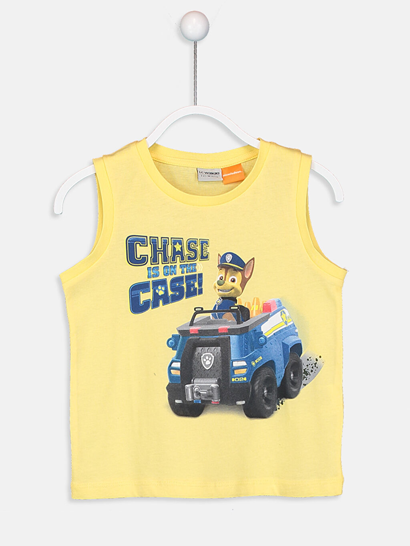Sarı Erkek Çocuk Chase is on The Case Pamuklu Atlet 9S8810Z4 LC Waikiki