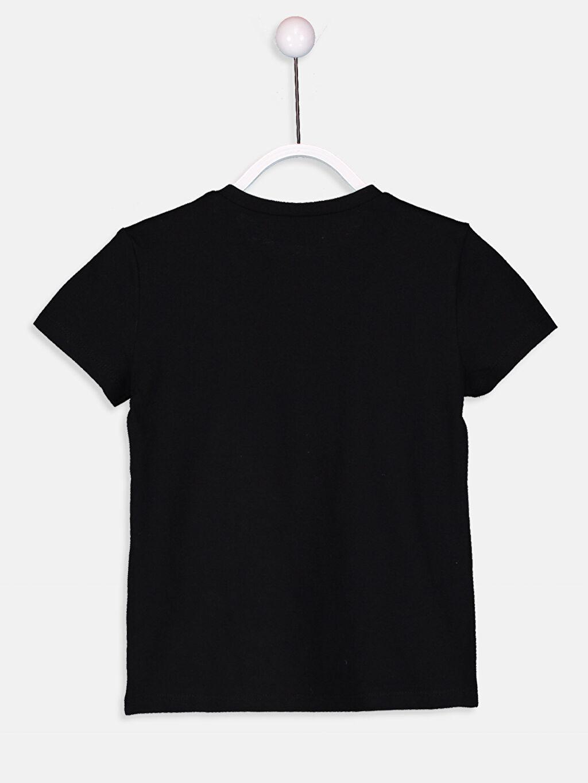 %100 Pamuk Baskılı Kısa Kol Bisiklet Yaka Standart Tişört Kız Çocuk Yazı Baskılı Pamuklu Tişört