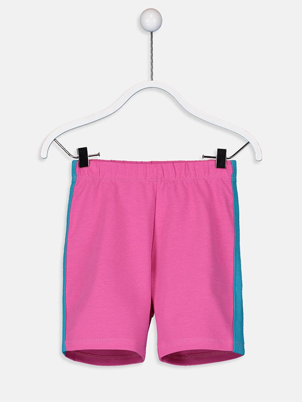 %46 Pamuk %54 Polyester Kız Çocuk Baskılı Pijama Takımı