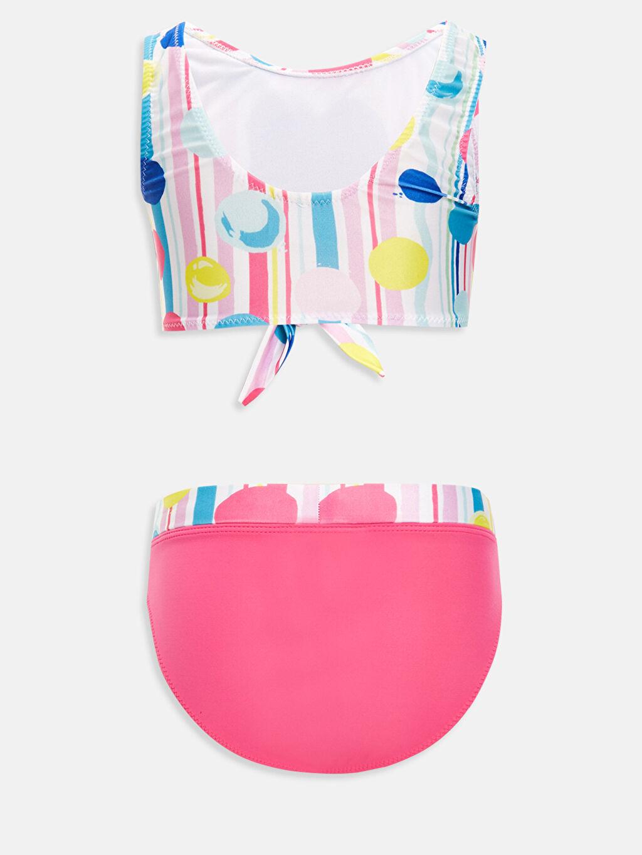 %81 Polyester %19 Elastan %90 Polyester %10 Elastan  Kız Çocuk Baskılı Bikini