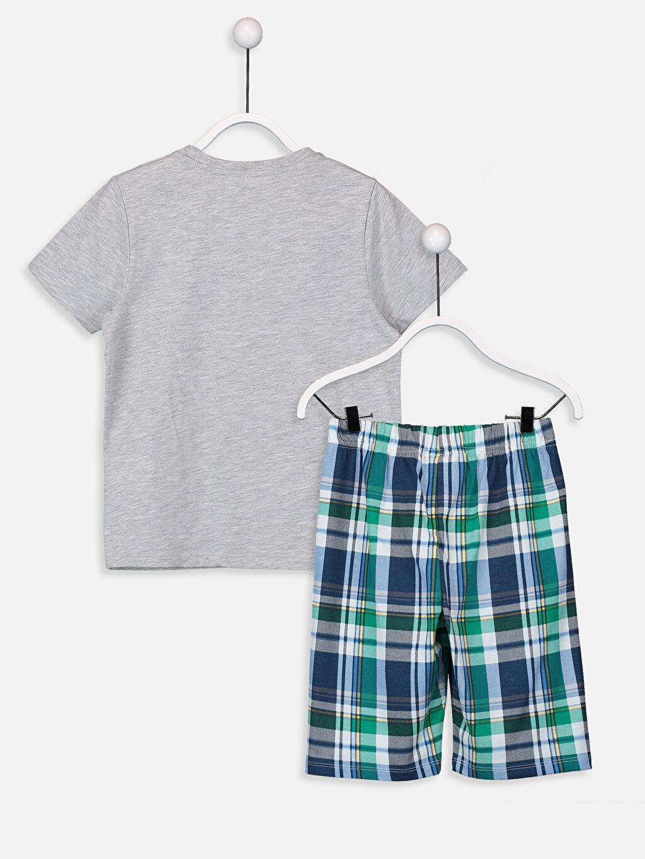 %50 Pamuk %50 Polyester Standart Pijamalar Erkek Çocuk Baskılı Pijama Takımı