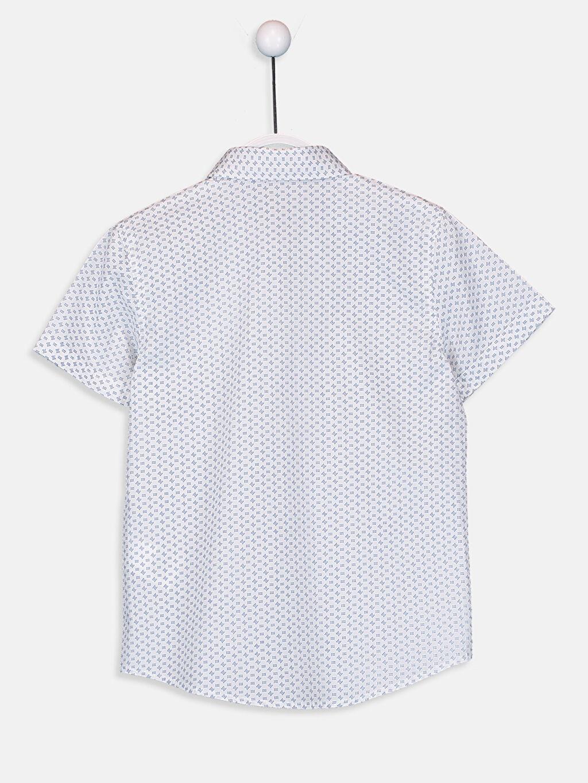 Erkek Çocuk Erkek Çocuk Desenli Poplin Gömlek ve Kravat