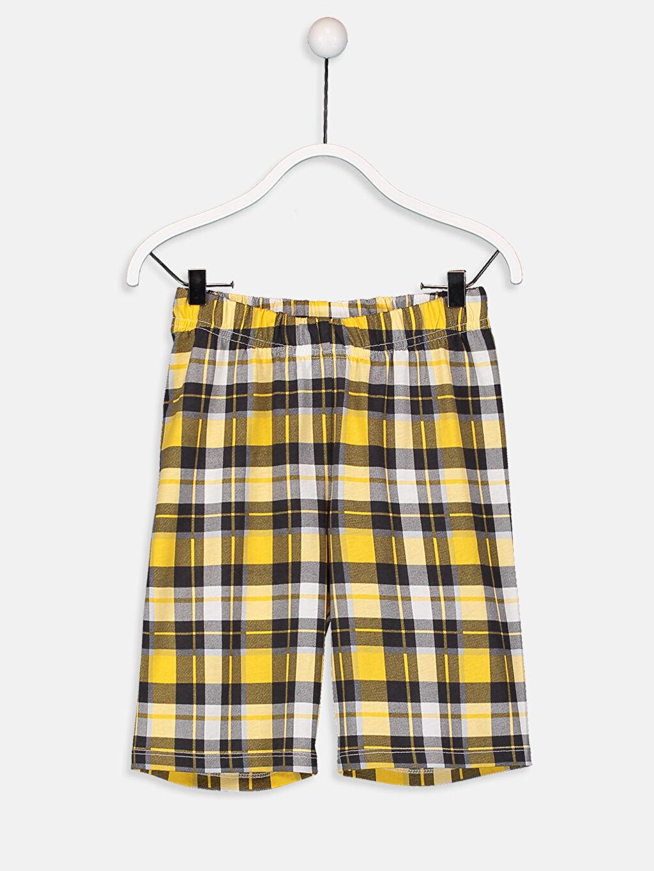 %48 Pamuk %52 Polyester Erkek Çocuk Baskılı Pamuklu Pijama Takımı
