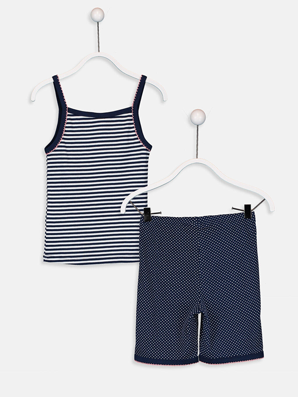 %100 Pamuk %100 Pamuk Pijamalar Standart Kız Çocuk Pamuklu Pijama Takımı