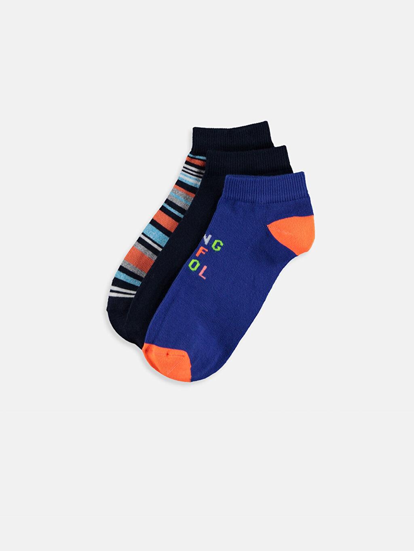 Çok Renkli Erkek Çocuk Patik Çorap 3'lü 9SK903Z4 LC Waikiki