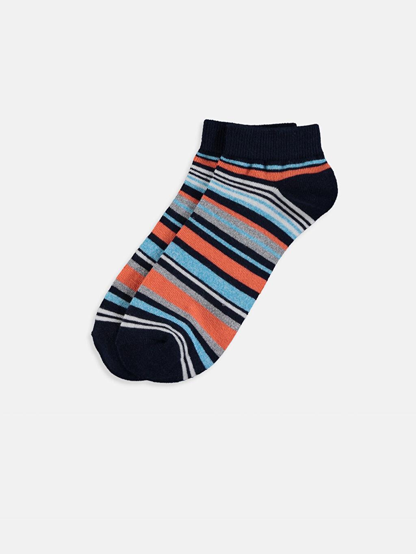 %82 Pamuk %17 Poliamid %1 Elastan  Erkek Çocuk Patik Çorap 3'lü