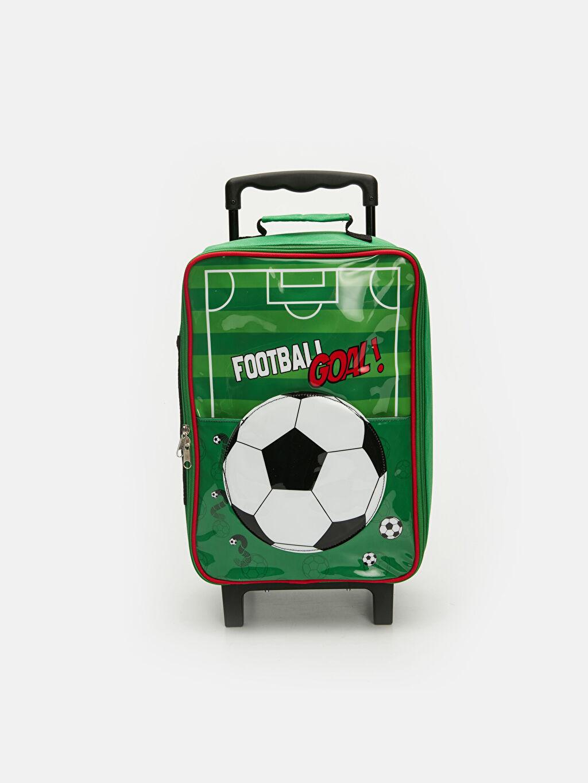 Yeşil Erkek Çocuk Futbol Desenli Çekçekli Çanta 9SL485Z4 LC Waikiki