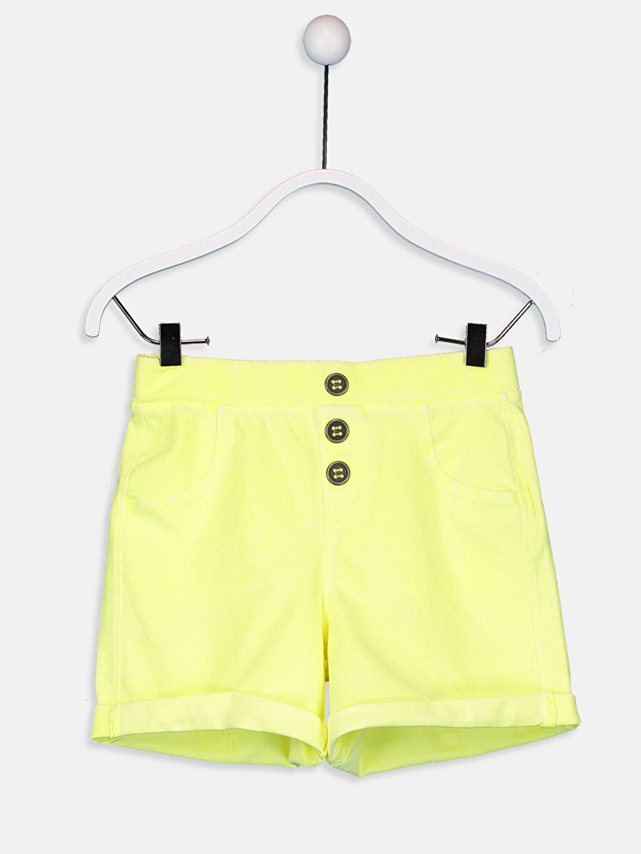 Sarı Kız Çocuk Örme Şort 9SM218Z4 LC Waikiki